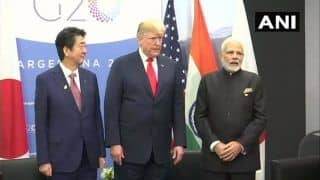 G20 Summit: PM Modi Holds 1st Trilateral Meeting With Donald Trump, Shinzo Abe; Says Both Countries Are India's Strategic Partners