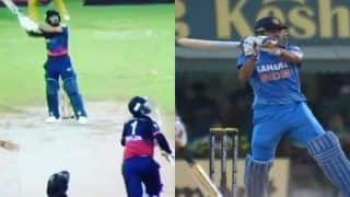 T10 League: Rishabh Pant, Danielle Wyatt Floored as Rashid Khan Emulates MS Dhoni's 'Helicopter Shot' to Perfection - Watch Video