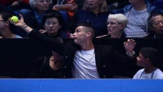 Juventus Star Cristiano Ronaldo Turns Ball Boy at ATP Finals - Watch Video