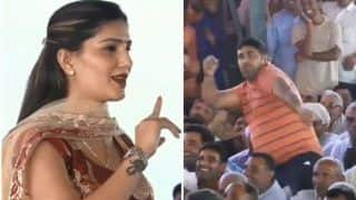 Haryanvi Hottie Sapna Chaudhary Gets Tough Competition From This Man as She Flaunts Her Sexy Thumkas on Bol Tere Mithe Mithe - Watch Funny Video
