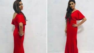 Haryanvi Sensation Sapna Choudhary Looks Her Sexiest Best in Hot Red Gown in Her Latest Photoshoot - See Pictures