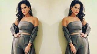 Sunny Leone Looks Hot AF as She Flaunts Her Washboard Abs in Crop Top And Red Lips - See Picture