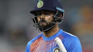 ICC World Cup 2019 Warm-up: Virat Kohli Bowled by Colin de Grandhomme During India vs New Zealand Match in Oval, Twitter Surprised Over Indian Captain's Dismissal | WATCH VIDEO