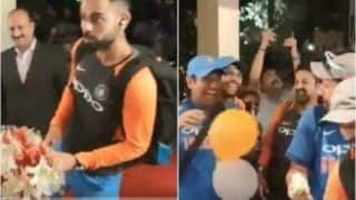 India vs West Indies 5th ODI: Rohit Sharma Cuts Victory Cake as Virat Kohli, MS Dhoni And Yuzvendra Chahal Celebrate India's Thumping Series Victory | WATCH VIDEO