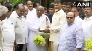 Chandrababu Naidu Meets Deve Gowda, Kumaraswamy: 'He Took Lead to Get Secular Parties Together to Unseat NDA, Our Responsibility to Come Together, Says Gowda