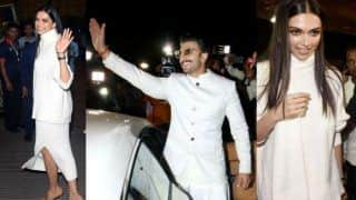 Deepika Padukone And Ranveer Singh Are Twinning in White, Head to Italy For Their Wedding- See Pics