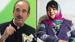 J&K: Ghulam Nabi Azad Counters Mehbooba's Claim, Says Congress, NC 'Not Interested' in Forming Govt
