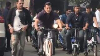 Bharat: Salman Khan Rides a Bicycle on The Sets of His Upcoming Film, Atul Agnihotri Shares Video on Instagram