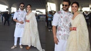 Deepika Padukone And Ranveer Singh Walk Hand-in-Hand at The Airport as They Jet Off to Bengaluru For Their Reception, See Pics