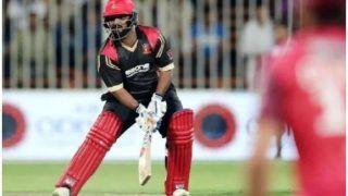 WATCH: धोनी के 'फैन' मोहम्मद शहजाद ने T10 लीग में 16 गेंदों पर ठोके 74 रन, 16 मिनट में गेम ओवर