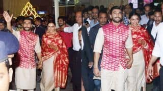 Deepika Padukone And Ranveer Singh Return to Mumbai After Their Italian Wedding, See Pics