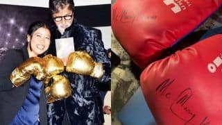 Amitabh Bachchan Beams With Happiness After Getting Boxing Gloves as Gift From Mary Kom, Calls Them Gold Medals, See Pics
