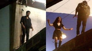 Brahmastra Behind The Scenes: Alia Bhatt And Ranbir Kapoor Get Harnessed For Stunt Sequence; See Pictures