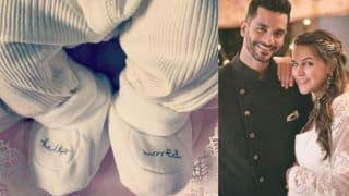 Angad Bedi And Neha Dhupia Share Glimpse of Their Baby Girl, Name Her Mehr Dhupia Bedi