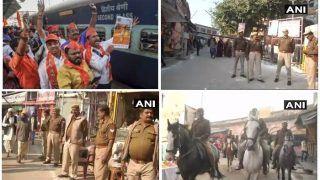 छावनी में तब्दील हुई अयोध्या, चप्पे-चप्पे पर पुलिस का पहरा, 2 लाख 'रामभक्तों' के जुटने का दावा