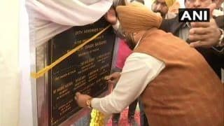 Kartarpur Corridor: Punjab Minister Puts Black Tape on CM's, His Name in Protest Against Those of Badals on Foundation Stone