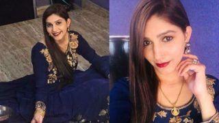 ब्लू गाउन, रेड लिपिस्टक में इतराईं Sapna Choudhary, होश उड़ा देगा देसी क्वीन का नया लुक