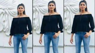 Haryanvi Hotness Sapna Choudhary Strikes The Sexiest Pose in Off-Shoulder Black Top And Denims, View Picture