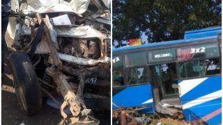 सतना: स्कूल वैन और बस में जोरदार भिड़ंत, 7 बच्चों समेत 8 लोगों की दर्दनाक मौत