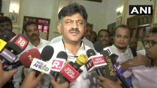 शिवकुमार के समर्थन में कांग्रेस कार्यकर्ता सड़कों पर उतरे, बीजेपी ने कहा- सबूत हैं तभी हुए अरेस्ट