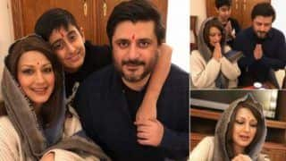 Sonali Bendre Celebrates Diwali With Son Ranveer And Husband Goldie Behl in New York, See Heart Melting Pic