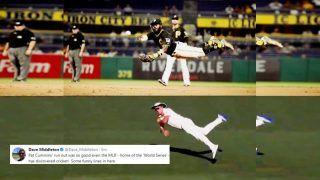 Australia vs India 1st Test: Australian Journalist Compares Pat Cummins Running Out Cheteshwar Pujara to an Effort by MLB Star Josh Harrison's Effort | WATCH