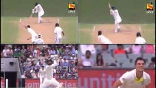 1st Test Adelaide: KL Rahul Smashes Pat Cummins Over Extra Cover For a Monstrous Six | WATCH