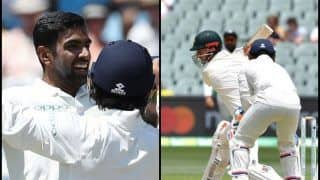 Australia vs India 1st Test: Ravichandran Ashwin Gets Shaun Marsh With a Classical Off-Spinners Delivery | WATCH