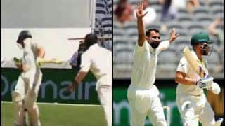 2nd Test Australia vs India Perth: Mohammed Shami Removes Tim Paine, Aaron Finch in Consecutive Deliveries, Virat Kohli-Led India Back in The Hunt | WATCH