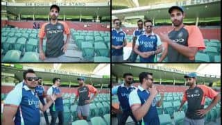 India vs Australia 1st Test Adelaide: Bhuvneshwar Kumar Surprises Bharat Army by Singing Song For Them | WATCH