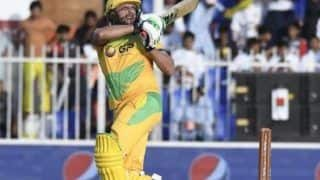 T10 Cricket League: Pakhtoons Shahid Afridi Slams 14-Ball Fifty, Single-Handedly Demolishes Northern Warriors.' Bowling Attack | WATCH