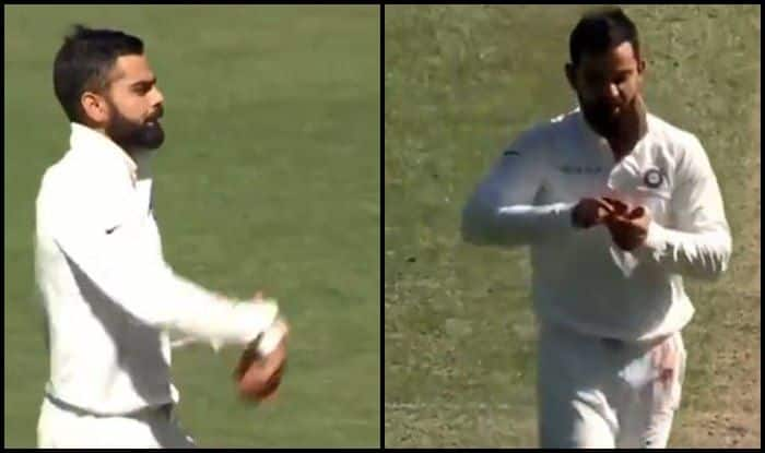 India vs Australia 2018: Virat Kohli Comes on to Bowl Against Cricket Australia XI, Rishabh Pant Asks Spin or Pace? | WATCH
