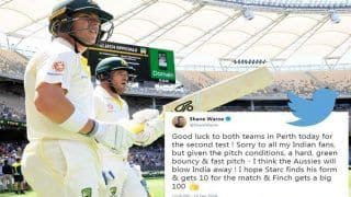 2nd Test Australia vs India: Shane Warne Backs Australia to Win at Perth Against Virat Kohli's India, Gets Trolled For His Blatant Tweet