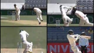 Australia vs India 2nd Test Perth: Mohammed Shami's Nasty Bouncer Damages Nathan Lyon Helmet, Aussie Spinner Receives Medical Attention | WATCH