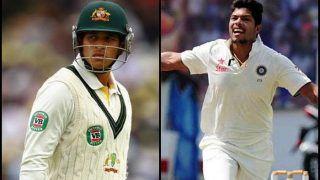 2nd Test Perth Australia vs India: Umesh Yadav Picks Big Fish Usman Khawaja, Rishabh Pant Takes a Easy Catch | WATCH
