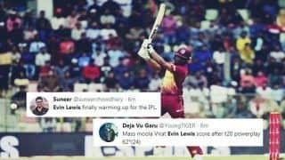Bangladesh vs West Indies 3rd T20I: Sixer-King Evin Lewis Smashes 18-Ball 50, Twitter Feels Windies Opener Getting IPL Ready For Mumbai Indians