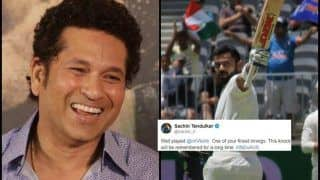 2nd Test Australia vs India Perth: Sachin Tendulkar Congratulates Virat Kohli After India captain Equalises His Test Ton Record Down Under With 25th Century
