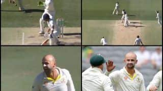 Australia vs India 2nd Test Perth: Nathan Lyon Dismisses Virat Kohli, Surpasses James Anderson to Become Most Successful Test Bowler Against India Captain; Twitter Feels it's Already 1-1 For Australia | WATCH