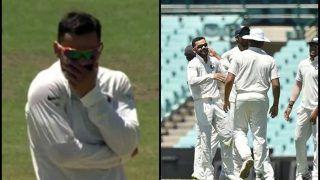 India vs Cricket Australia XI: Virat Kohli's Hilarious Reaction After he Picks up Harry Nielsen's Wicket is Priceless | WATCH