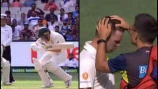 India vs Australia 3rd Test Melbourne: Jasprit Bumrah's Nasty Bouncer Cops Marcus Harris in The Helmet | WATCH