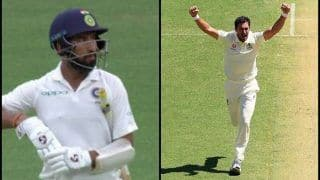 2nd Test Australia vs India Perth: Mitchell Starc Gets Cheteshwar Pujara, Breaks Dangerous Partnership With Virat Kohli | WATCH
