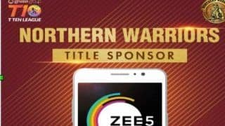 ZEE5 Sponsored Team Northern Warriors Move Into The Finals of T10 Cricket League