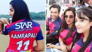 Nirahua Hindustani 3 Stars Amrapali Dubey, Dinesh Lal Yadav And Shubhi Sharma Get Sporty as They Attend Bhojpuri IPL - See Pictures