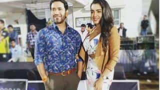 Bhojpuri Hot Couple Amrapali Dubey And Dinesh Lal Yadav Look Stunning as They Strike a Pose For Camera in Cricket Stadium - See Picture