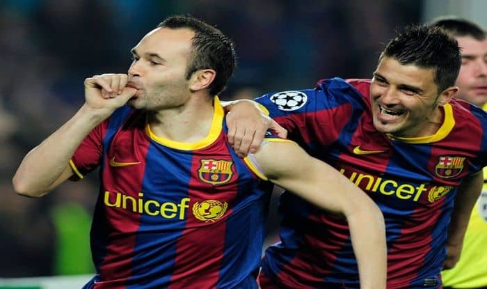Andres Iniesta and David Villa_Picture credits-Twitter