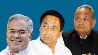 Assembly Elections 2018 Results: Kamal Nath, Ashok Gehlot, Bhupesh Baghel Frontrunner For CM Post in Madhya Pradesh, Rajasthan And Chhattisgarh, Say Reports