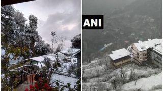 हिमाचल प्रदेश: शिमला, डलहौजी में Snow fall ने गिराया तापमान, शून्य से नीचे लुढ़का पारा