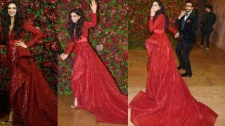 Deepika Padukone Wears a Deep Red Zuhair Murad Gown at Her Wedding Reception And Makes For a Sexy Bride, See Pics