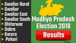Madhya Pradesh Election 2018 Results: Gwalior Rural, Gwalior, Gwalior East, Gwalior South, Bhitarwar, Dabra, Karera, Pohari Vote Counting Live Updates