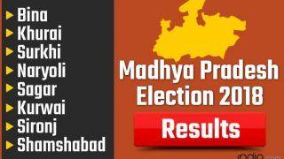 Madhya Pradesh Election 2018 Results: Bina, Khurai, Surkhi, Naryoli, Sagar, Kurwai, Sironj, Shamshabad Vote Counting Live Updates